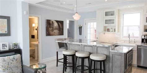 kitchen island counter height 2018 kitchen island design in two levels signature kitchens additions baths