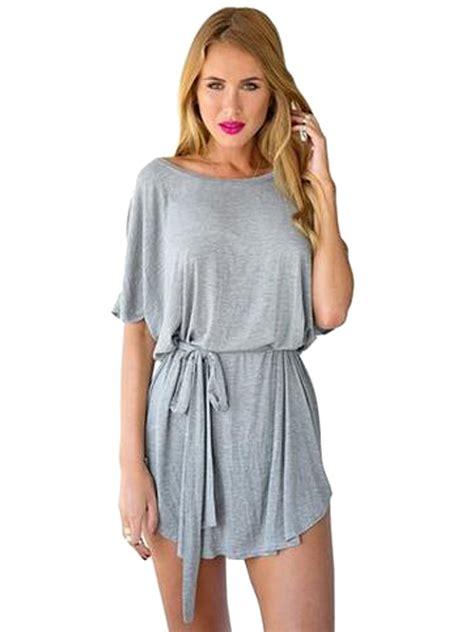 oversized with belt micro mini dress batwing sleeve