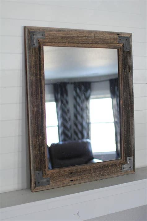 reclaimed wood bathroom mirror barnwood mirror rustic