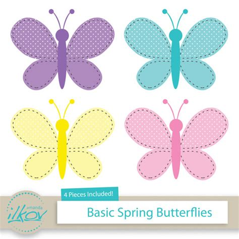 Polka Dot Wall Stickers basic spring butterflies clipart for digital scrapbooking