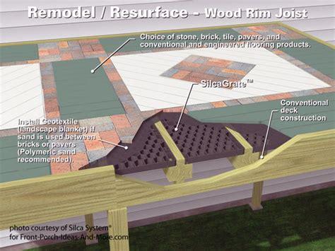 Brick Home Floor Plans wood to stone decks decking materials silca system 174