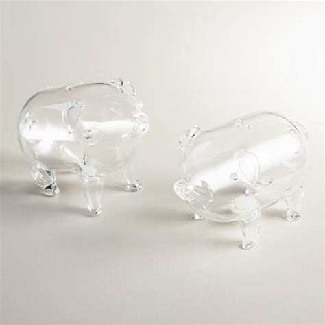 Glass Pig Salt And Pepper Shakers It Or It by Glass Pig Salt And Pepper Shaker Set World Market