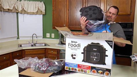 ninja foodie unboxing pressure cooker air fryer