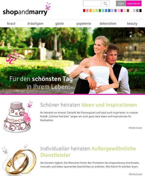 Alles Rund Ums Heiraten by Neu Shopandmarry B 252 Ndelt Alles Rund Ums Heiraten My
