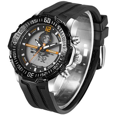 Jam Tangan Quiksilver Z043 Orange weide jam tangan pria silicone wh6105 black orange jakartanotebook
