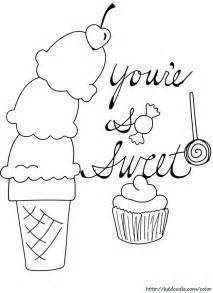 ice cream color pages az coloring pages