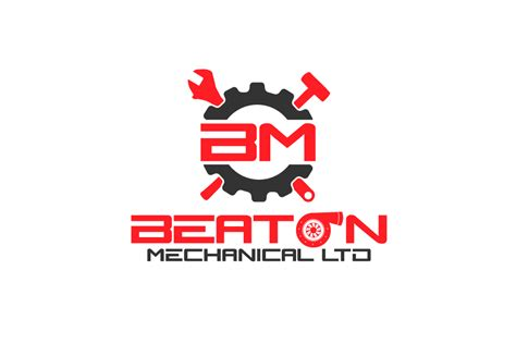business logo design  beaton mechanical    interactive design design