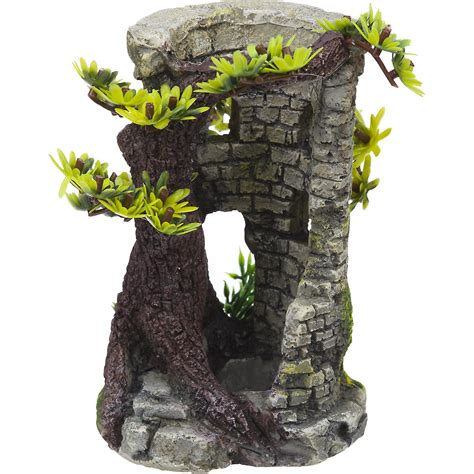 bonsai rock garden rockgarden resin aquarium bonsai tower petco