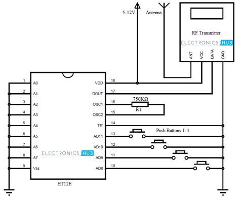 Rf Wireless Transmitter 433mhz rf transmitter and receiver circuit diagram 50