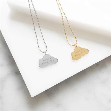 Cloud Necklace cloud charm necklace by lou of