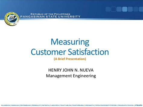Mba Ppt On Satisfaction by Measuring Customer Satisfaction