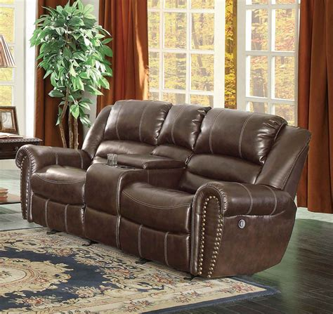 homelegance reclining sofa homelegance center hill power reclining sofa set dark