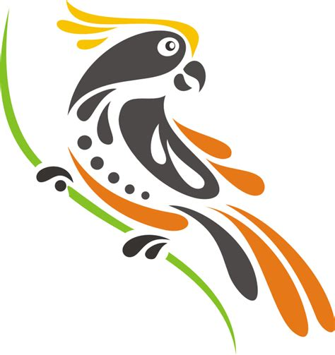 format gambar eps gambar burung kakatau vector kumpulan logo indonesia