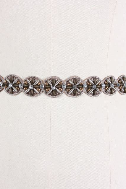 Elastic Belt Beige ryu beaded elastic beige belt