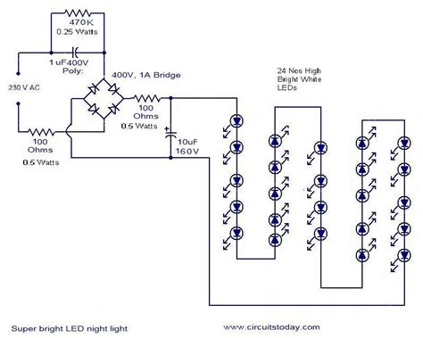 led circuits diagrams mains operated led circuit electronic circuits and