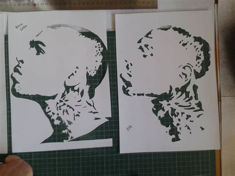 spray paint stencil prints icanvas chris brown silver painting stencils spray paints on