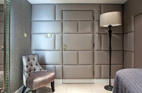 Wall Upholstery by Majilite Shimmer Pearl Grey Upholstered Walls By