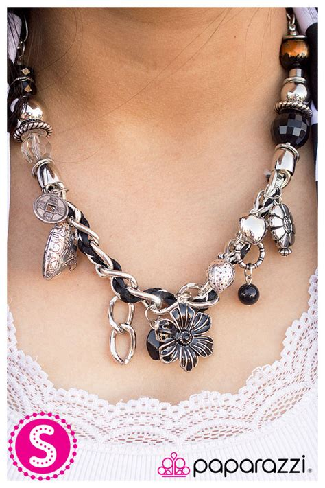 silver jewels blackshorts 5 041 modelblog silver jewels charmed i am sure black blockbuster necklace
