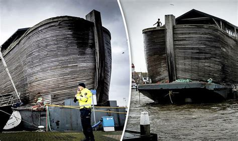 bed on boat ark noah s ark breaks loose and causes significant damage