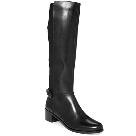tahari boots in black black leather lyst