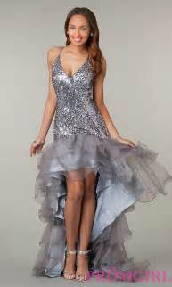 High low sequin party dress v neck sequin prom dresses promgirl