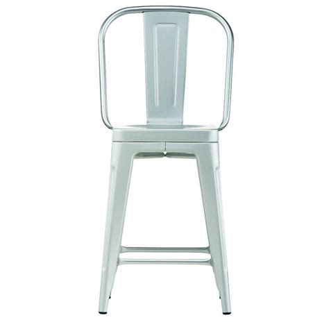 brushed aluminum bar stool micazza home decorators collection garden 24 in brushed aluminum