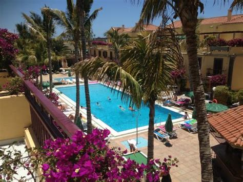 oasis club bungalows maspalomas swimming pool as seen from our balcony picture of