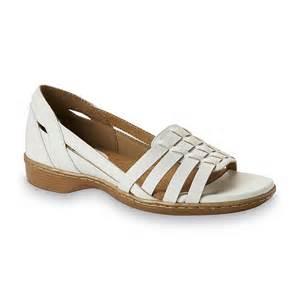 womens white comfort sandals sears