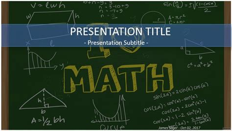a presentation on mathematicians mathematics powerpoint template math powerpoint template