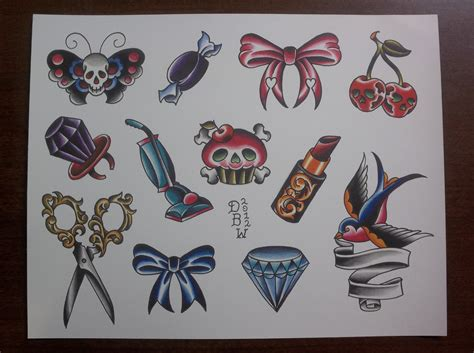 tattoo flash video one for the ladies traditional tattoo flash sheet