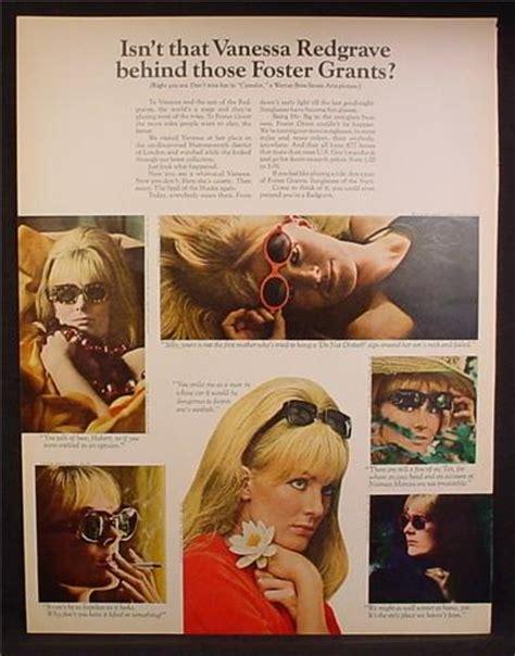 magazine ad  foster grants sunglasses vanessa redgrave celebrity endorsement