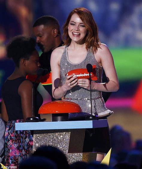 emma stone kid movie emma stone and hunger games win big at kids choice awards