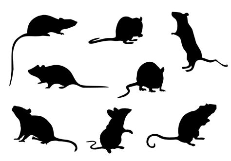 free mice silhouette vector download free vector art