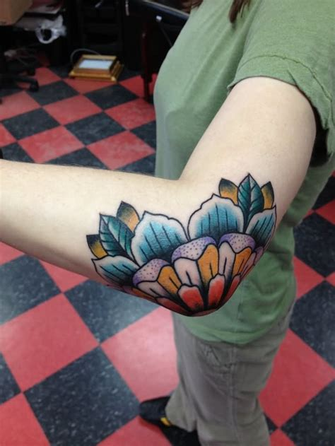 flower elbow tattoos 37 traditional tattoos ideas