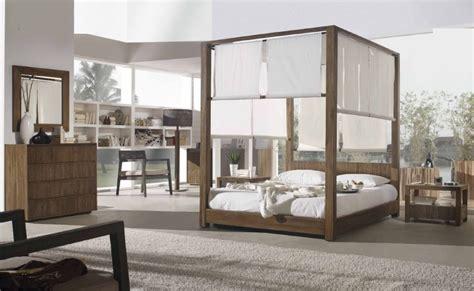 chambre teck lit baldaquin lambaca en teck massif haut de gamme meuble