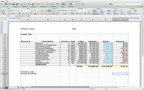 5 Useful Microsoft Excel Templates For Indie Film Tv Production Make Tech Easier Tv Commercial Production Budget Template