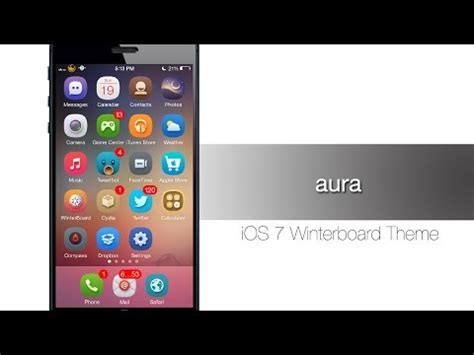 hack themes for iphone aura one of the best ios 7 winterboard themes iphone