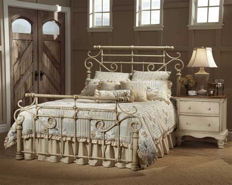hillsdale beds hillsdale wilshire metal bed antique white 1172 mtlbed