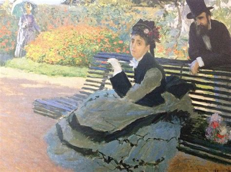 camille monet on a garden bench pin by guilherme penalva on one year of art pinterest