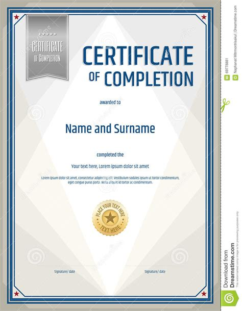 28 certificate of successful completion template