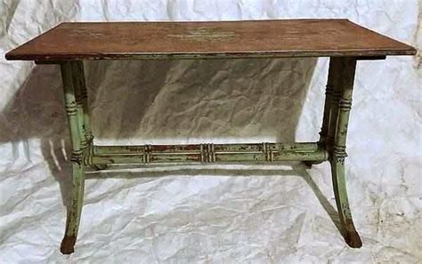 regency faux bamboo shabby painted table