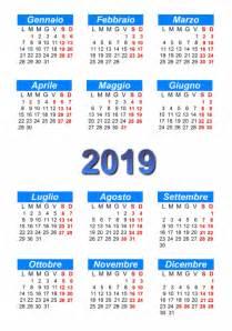 Calendario 2018 E 2019 Calendario 2019 Stare E Scaricare In Pdf Abc