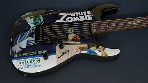 kirk hammett kh3 kirk hammett ltd kh 3 white zombie guitar 3d model obj