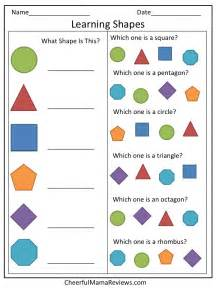 preschool worksheet learning shapes shapes