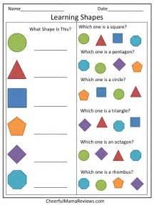 preschool worksheet learning shapes shapes