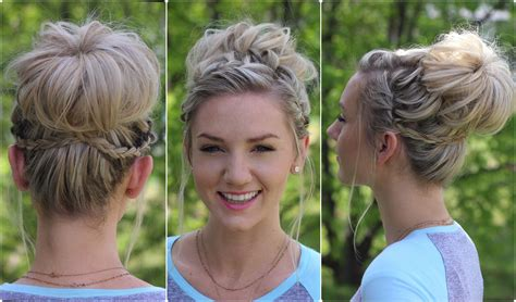 pictures on bun type hairstyles cute girl hairstyles waterfall bun updo cute girls hairstyles