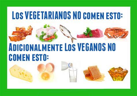 alimentos veganos cuadros comparativos entre veganos y vegetarianos