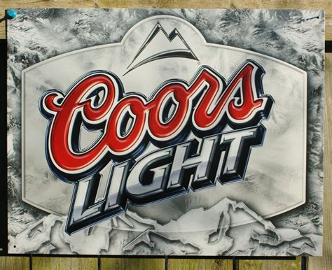 coors light bar sign coors light label tin sign garage rockies bar beer