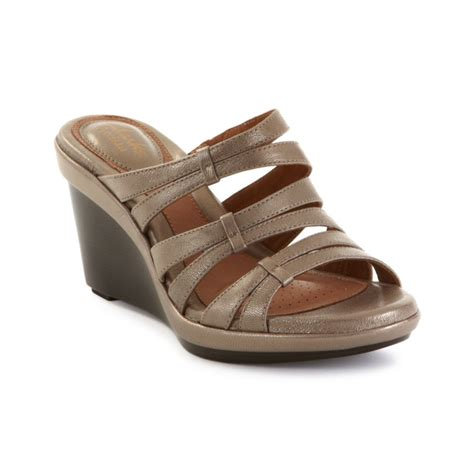clarks artisan wedge sandals clarks shoes heels wedges boots sneakers lyst