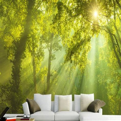 Living Room Wallpaper 3d Background by Woods Background Wallpaper Photo 3d Living Room